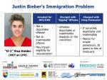 justin bieber s immigration problem