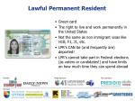 lawful permanent resident