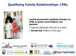 qualifying family relationships lprs