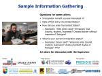 sample information gathering