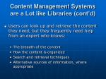 content management systems are a lot like libraries cont d1