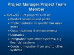 project manager project team member