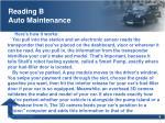 reading b auto maintenance