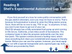 reading b shell s experimental automated gas station
