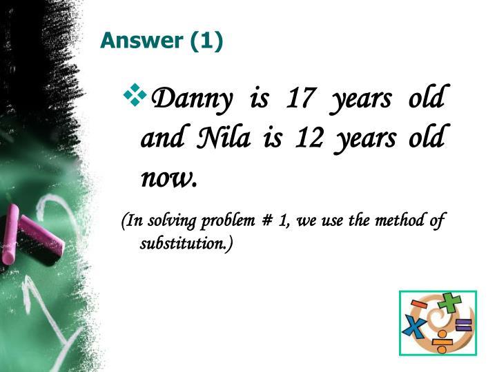 Answer (1)