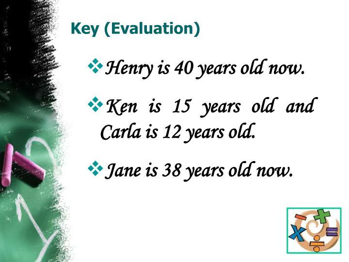 Key (Evaluation)