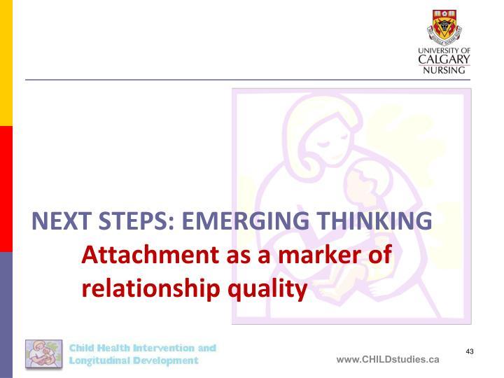 Next Steps: EMERGING THINKING