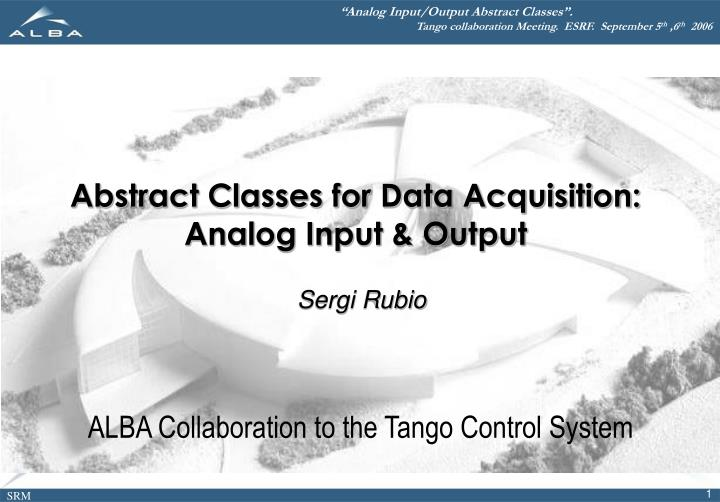 abstract classes for data acquisition analog input output n.