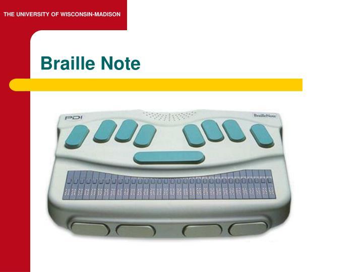 Braille Note