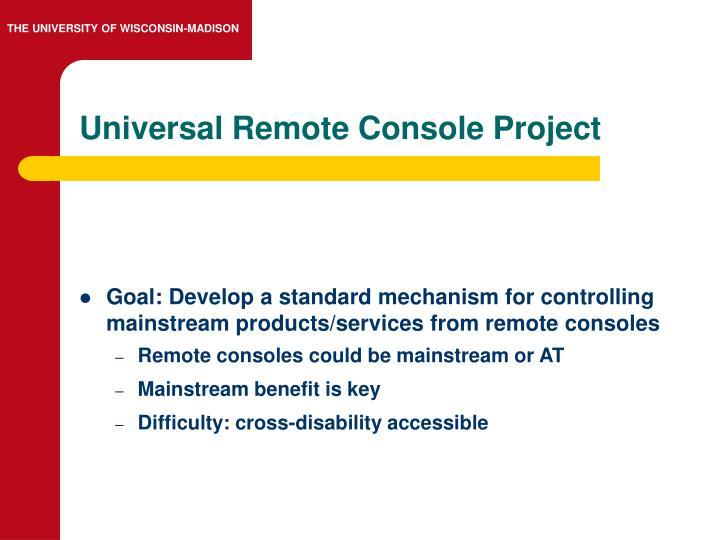 Universal Remote Console Project