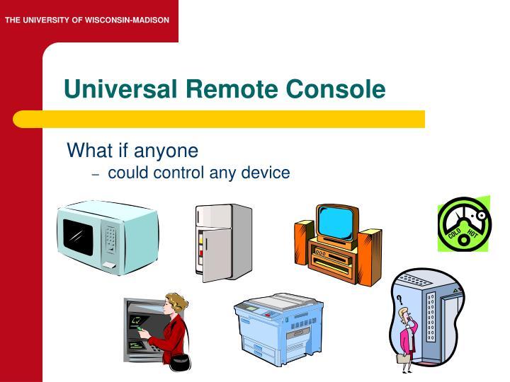 Universal Remote Console