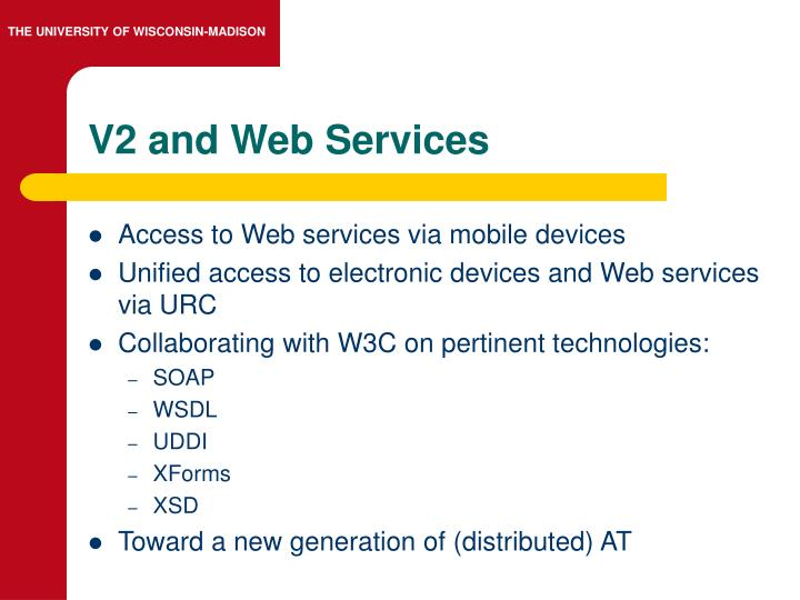 V2 and Web Services