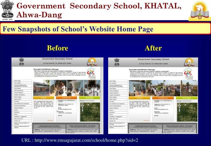 Government  Secondary School, KHATAL, Ahwa-Dang