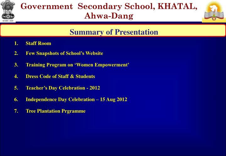 At po govt secondry school khatal ahwa dang 394730 email prischgskhatal gmail
