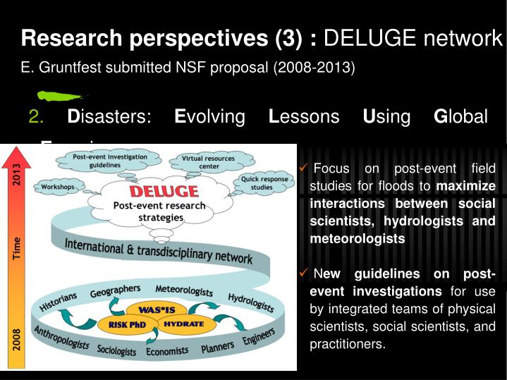 Research perspectives (3) :