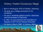 history hubert coutoucou maga