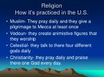 religion how it s practiced in the u s