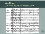 w a mozart concerto pour fl et harpe k 299 i