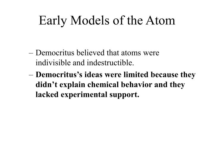 Early models of the atom2