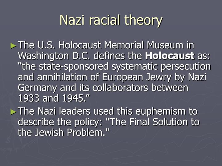 nazi racial policy essay The racial policy of nazi germany was a set of policies and laws implemented in who published a four-volume work titled an essay on the inequality of the human.