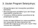 3 usulan program selanjutnya