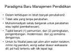 paradigma baru manajemen pendidikan