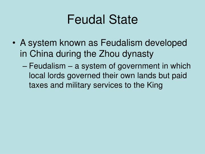 Feudal State