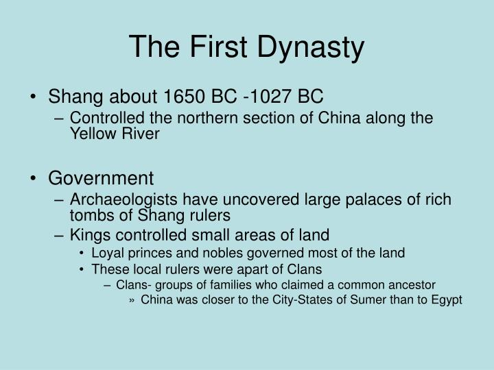 The First Dynasty