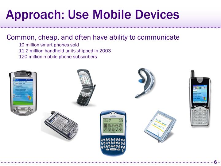 Approach: Use Mobile Devices