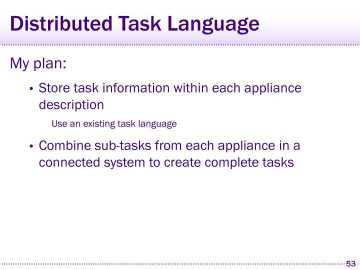 Distributed Task Language