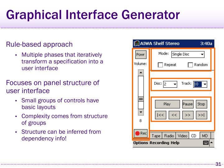 Graphical Interface Generator