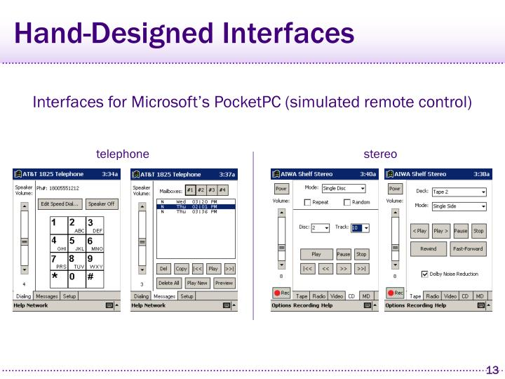 Hand-Designed Interfaces
