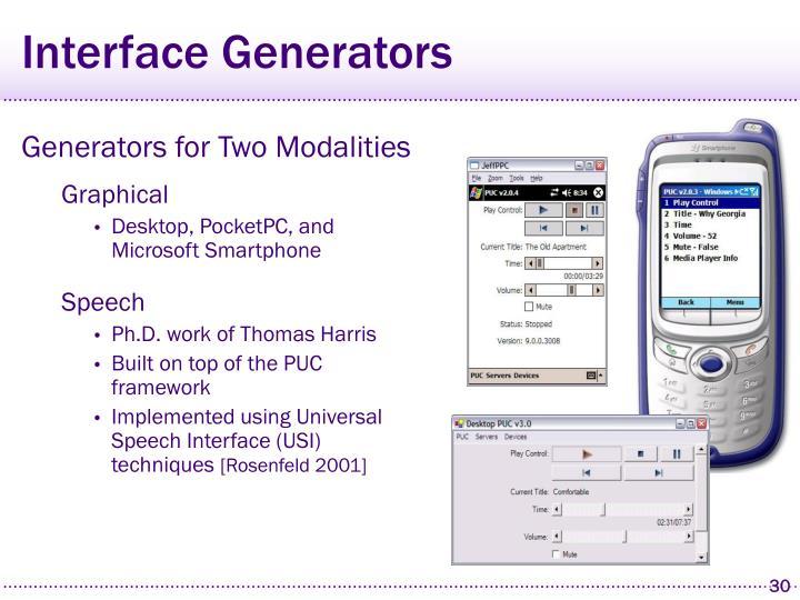 Interface Generators