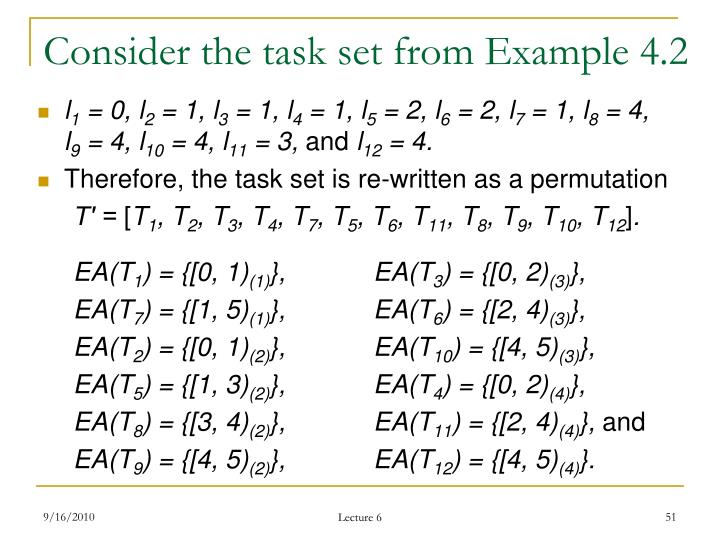 Consider the task set from Example 4.2