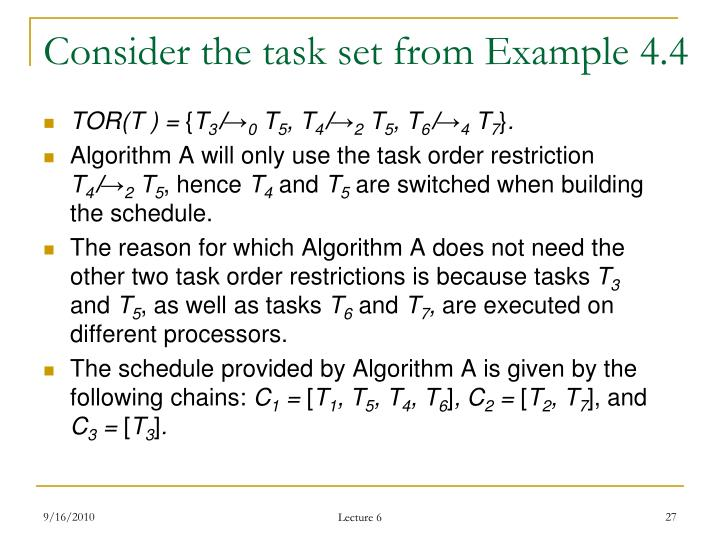 Consider the task set from Example 4.4