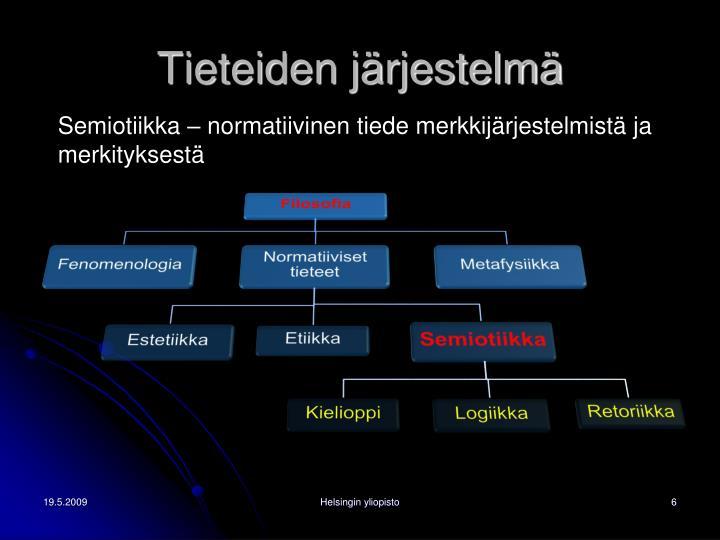 Tieteiden järjestelmä