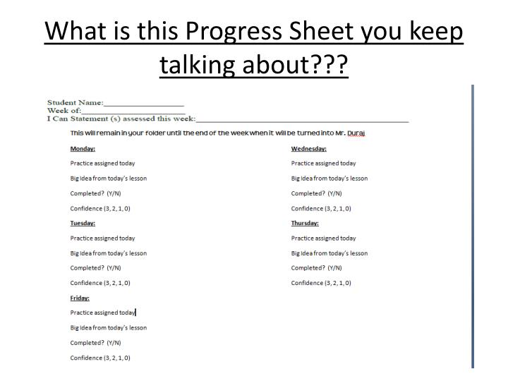 What is this Progress Sheet you keep talking about???