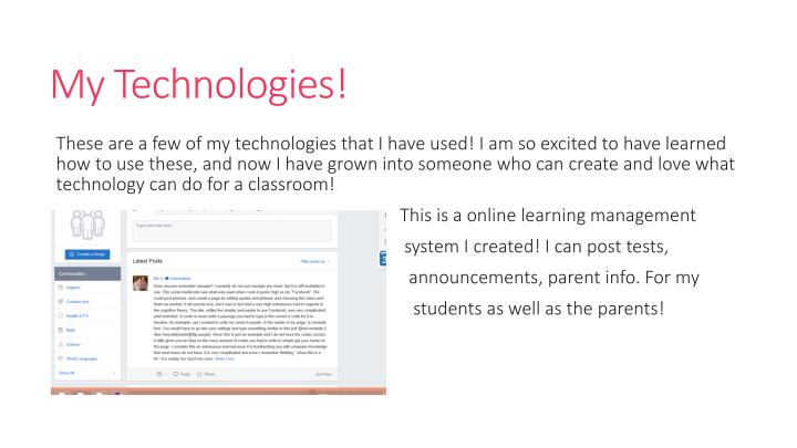 My Technologies!