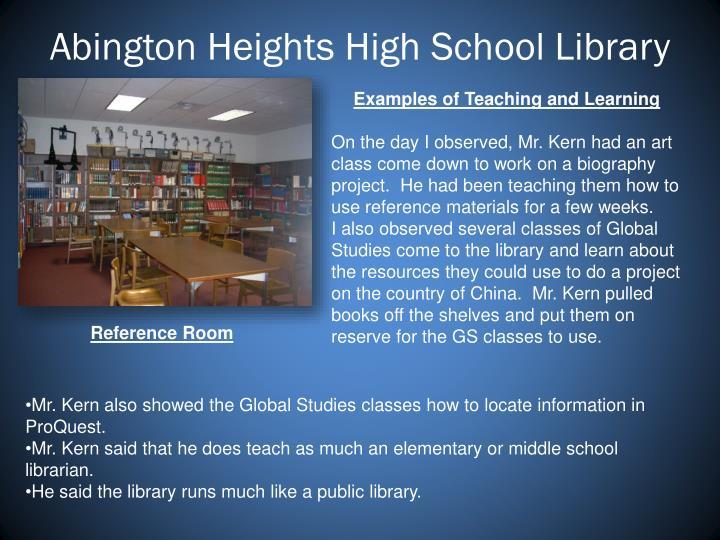 Abington Heights High School Library