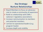 key strategy nurture relationships