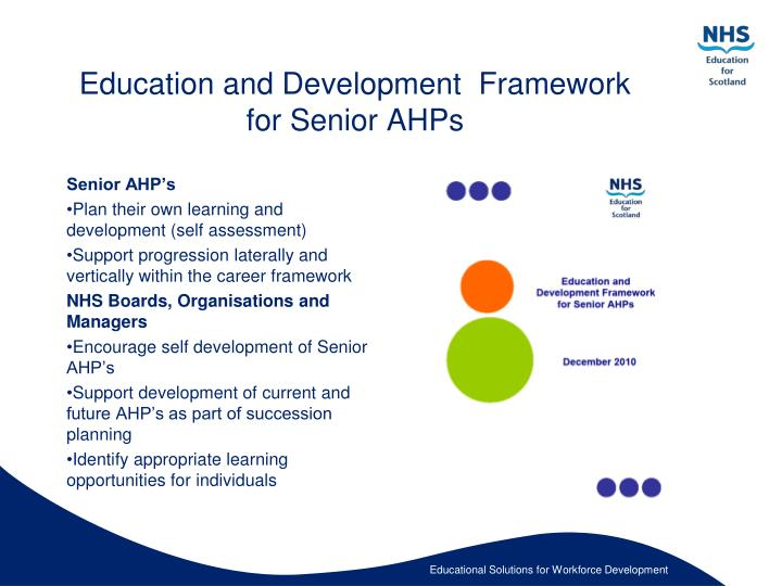 Education and Development  Framework for Senior AHPs