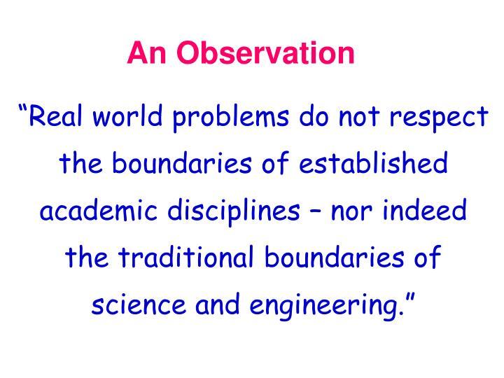 An Observation