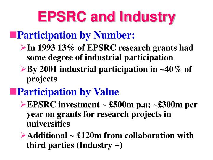 EPSRC and Industry