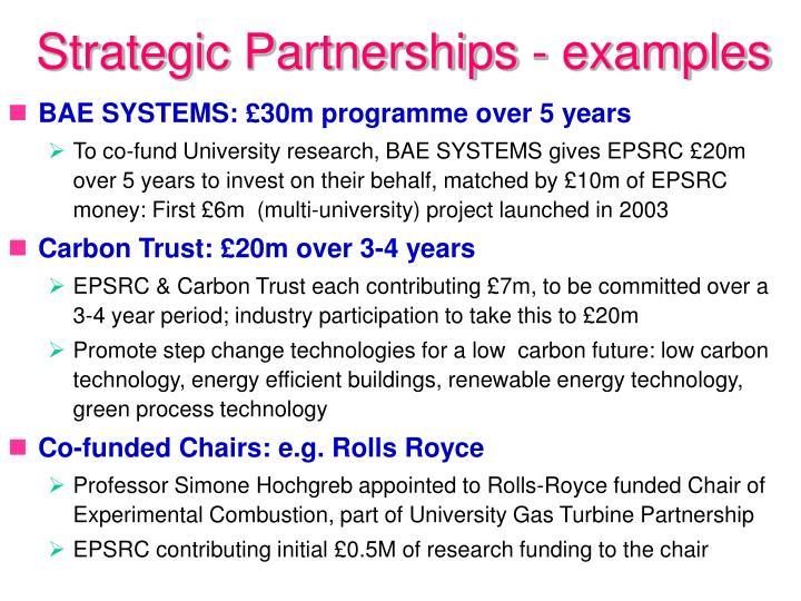 Strategic Partnerships - examples