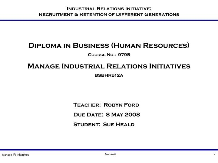 Diploma in Business (Human Resources)