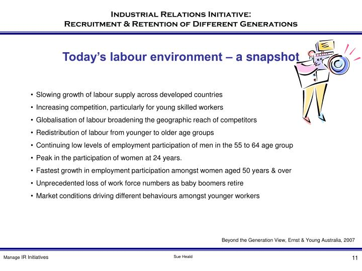 Today's labour environment – a snapshot