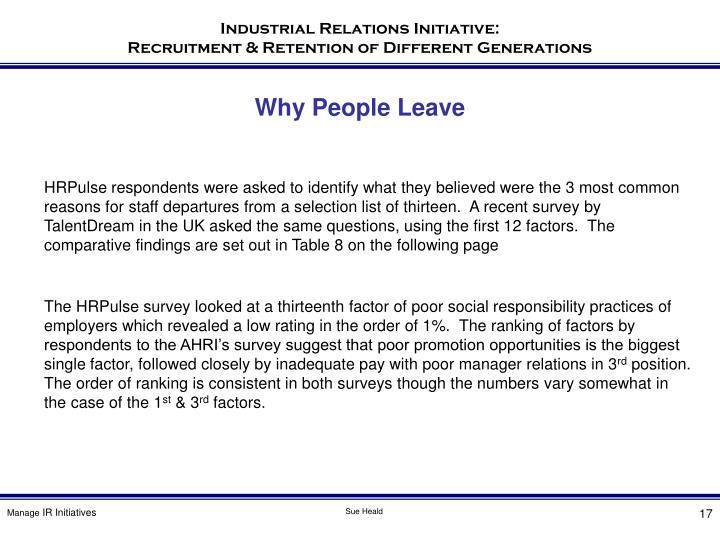 Why People Leave
