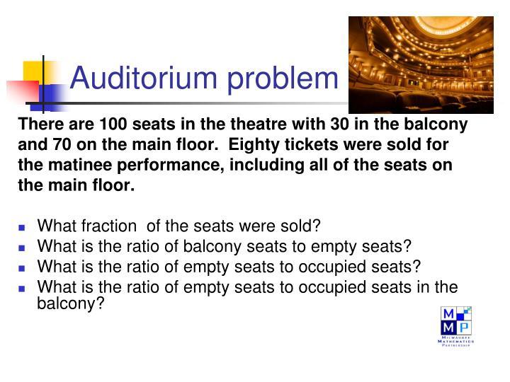 Auditorium problem