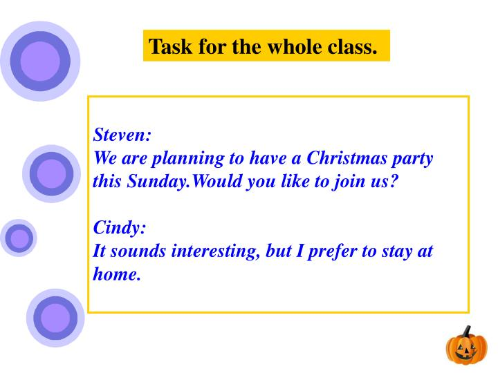 Task for the whole class.