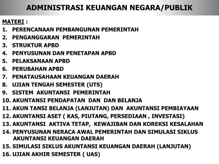 Administrasi keuangan negara publik